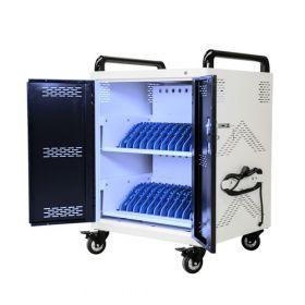 Tablet/laptopkar voor 24 devices - Met antibacterieel UV-C licht - Safecart 24